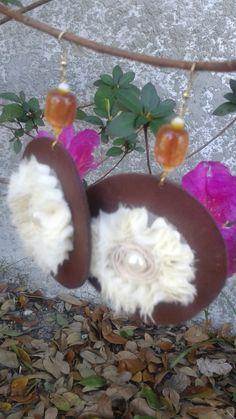 V04 beautiful flower earrings by RettasBoutique on Etsy