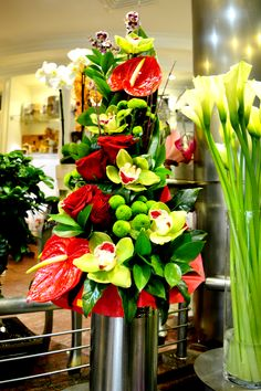 Anthurium and cymbidium :)