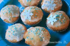 cupcakes vanille frozen reine des neiges flake flocons