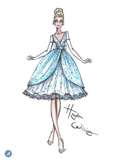 So honoured that Disney & Tumblr have asked me to design a reimagined dress in honour of the live action Cinderella movie . This is my modernised but still classic interpretation of her that will be brought to life in couture form. A dream that you wish really can come true! #Cinderella #Disney