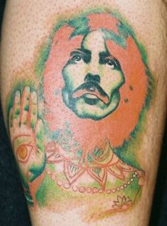 George Harrison Portrait Tattoo by Phil Colvin