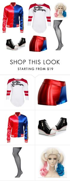 """""""Harley Quinn"""" by lauren53103 on Polyvore featuring Lane Bryant, Costume and harleyquinn"""