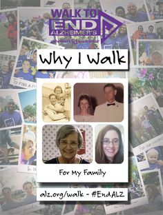 Alicia Walks to #ENDALZ for her family. Read her story at https://alzgrva.wordpress.com/2015/07/28/why-i-walk-alicia-miller/ You can now register for the 2015 Walks to End #Alzheimers! Northern Neck – Middle Peninsula; Saturday, September 19th; Fredericksburg; Saturday, September 26th; Richmond Walk to End Alzheimer's; Saturday, November 7th. Register at www.alz.org/walk #dementia #RVA #CentralVirginia #caregiver