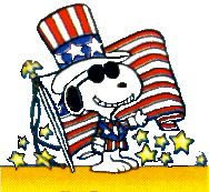 funny 4th july cartoons | free 4th of July American flag clipart image, funny Peanuts cartoon ...