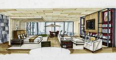 #sketching #visualization #copicmarkers #interiordesign #interiorarchitecture…