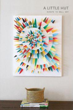 Maak een schilderij van papier!