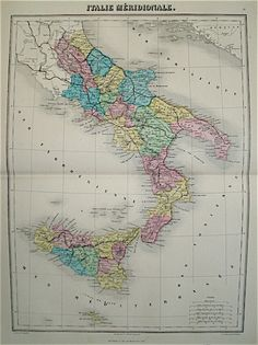 1855 map of southern italy featuring the kingdom of two sicilies vuillemin map of italy south 1880 gumiabroncs Images