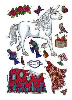 horse paper dolls