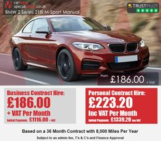 Car Lease Special Offers are leasing & contract hire experts helping personal and business users find the cheapest and best leasing deals and offers in the UK. Lease Specials, Bmw 2, December, Car, Sports, Cutaway, Automobile, Hs Sports, Sport