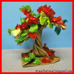 of tree activities for kids to go along with Earth Day Arbor Day or a tree theme.Collection of tree activities for kids to go along with Earth Day Arbor Day or a tree theme. Rainforest Crafts, Rainforest Trees, Trees For Kids, Art For Kids, Crafts For Kids, Kid Art, Autumn Art, Autumn Trees, Quilling