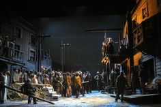 La Fanciulla del West from LA Opera 2002. Production by Gian-Carlo del Monaco. Sets by Michael Scott.