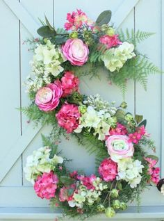 Switch it up this spring and ditch the round wreath.