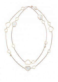Chopard Necklace Happy Hearts Sautoir Necklace 18k rose gold, diamonds and mother-of-pearl