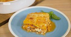 Ligera, sin culpa ni complicaciones  la lasaña sin pasta de calabaza, salchichas y queso fresco es un inventazo que deberías probar sí o sí.