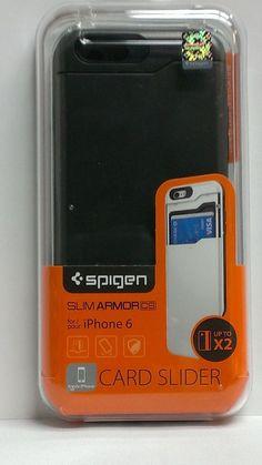 iPhone 6 Case Spigen Slim Armor CS Card Slot Case Slim Protective Cover GunMetal #Spigen