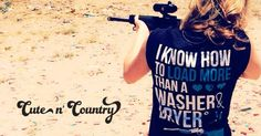 On the back of this Cute n' Country T-shirt reads: I Know How To Load More Than A Washer and Dryer!