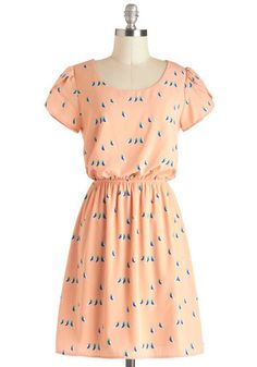 Color Palette: Peachy Keen and ready for Spring! Vestidos Vintage Retro, Retro Vintage Dresses, Cut And Style, My Style, White Button Down Shirt, Boho Skirts, Mod Dress, Belted Dress, Dress Me Up