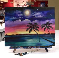 Swinging through the week with a pop of color. #SwinginSunset    Find this event: https://pwat.art/2D9aA4g #canvaspaintingart