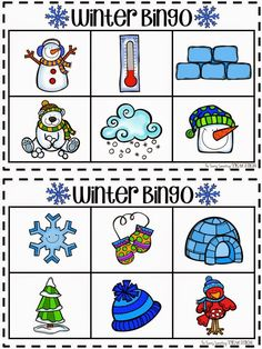 Who doesn't love a good game of Bingo! I do-- that's why I created bingo boards for all year long! Winter Activities For Kids, Winter Games, Winter Kids, Winter Craft, Alphabet Activities, Preschool Activities, Alphabet Bingo, Free Preschool, Preschool Printables