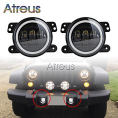 "73.92$  Buy here - http://alie18.shopchina.info/1/go.php?t=32760425864 - ""2X 4"""" 30W Car LED Fog Light with DRL Angel eyes StylingFor Jeep Wrangler JK For Dodge Magnum Journey For Chrysler 300 PT Cruiser""  #bestbuy"
