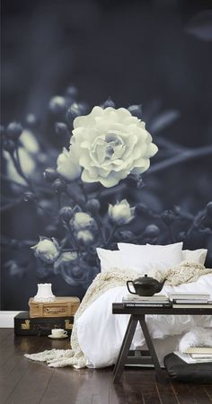 Another stunning wallpaper idea. How lovely this would look in a bedroom! #StyleYourWall