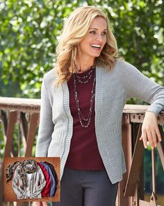 CHRISTOPHER AND BANKS Layer-Your-Look tank with our versatile topper is a perfect on-the-go fall look!