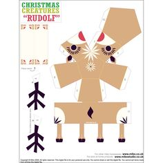 Papercraft Christmas creatures | RSPB Christmas crafts | RSPB Shop