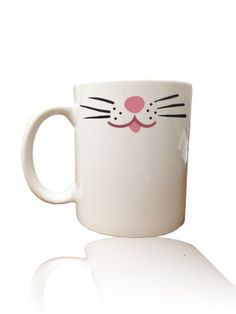Cat Lover Kitten Whiskers Coffee Mug White 15oz * Want additional info? Click on the image.