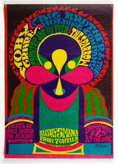 Moby Grape Big Brother and Holding Company 1967 Mar 5 Avalon Ballroom Poster