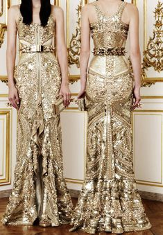 Gold front and back. Givenchy Haute Couture. Fall/Winter 2010.