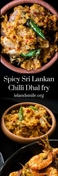 Spicy Sri Lankan chilli dhal fry, give your usual dhal with coconut milk a break, try a spicy version for a change. Veggie Recipes, Indian Food Recipes, Asian Recipes, Vegetarian Recipes, Vegan Vegetarian, Dhal Curry, Dahl Recipe, White Sauce Recipes, Sri Lankan Recipes