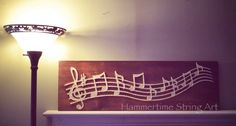 Music notes string art sign decor