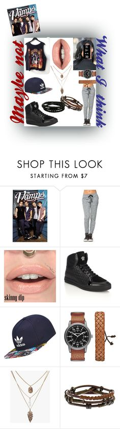 """""""I Found A Girl(The Vamps)"""" by only-selflove ❤ liked on Polyvore featuring Versace, adidas, Arizona and Porsche Design"""