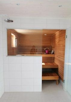 Portable Steam Sauna - We Answer All Your Questions! Home Spa, Basement Bathroom, Bathroom Interior, Sauna Room, Interior, Bathroom Interior Design, Home Decor, Sauna House, Spa Rooms