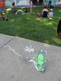 David Zinn with Sluggo and Flying Pig