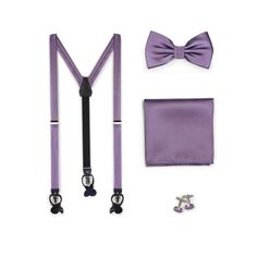 Wisteria Suspender Bow Tie Set Wedding Accessories for Groomsmen Attire Suspenders, Groom And Groomsmen, Groom Suits, Groom Attire, Wisteria Wedding, Purple Wedding, Spring Wedding, Wedding Flowers