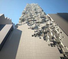 The Sheung Wan Hotel, Hong Kong. See more stunning architecture at http://glamshelf.com