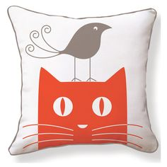 Tweety on Kitty Pillow.