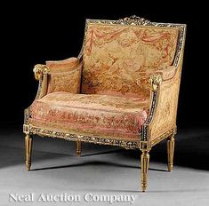 A Fine Louis XVI-Style Carved Giltwood Petite