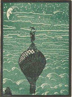 Bookplate of sci-fi pioneer H.G. Wells.
