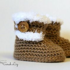 Introducing the Aspen Booties. Perfect for keeping tiny toes warm during the cold months. Available in 3 sizes for babies.
