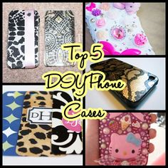 5 diy phone cases