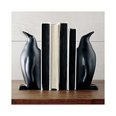 penguin bookends set of two