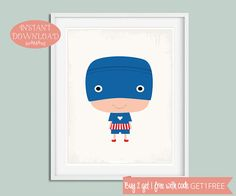 Superhero Printable, Nursery Wall Art, Printable Nursery, Superhero Nursery, Superhero Wall Art, Superhero Print, Superhero, Nursery Prints