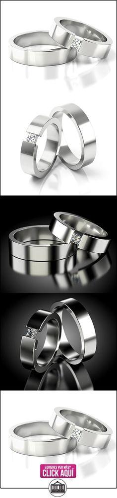 Anillos De Boda Oro Blanco 750_PD155_S-836  ✿ Joyas para hombres especiales - lujo ✿ ▬► Ver oferta: http://comprar.io/goto/B01DPSD7P8