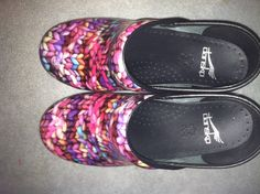 """""""Knitted"""" Dansko Clogs. these are the funnest shoes i own lol"""