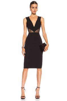 Cushnie et Ochs Power Viscose-Blend Dress with Mesh Cutouts in Black | FWRD [1]