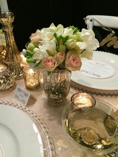 Peach sequin sweetheart table: gold cutlery, gold Mercury glass candlesticks, gold Mercury glass tealight holders. Hire from The Pretty Prop Shop, Pukekohe, NZ www.theprettypropshop.co.nz