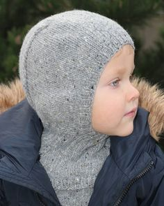 Hand knitted seamless merino wool baby balaclava hat.  dewknit  etsyshop   etsy   660ab7b93d94