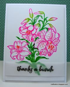 Craftcation: Day 5 of Stretch Your Stamps Class: Thanks a Bunch